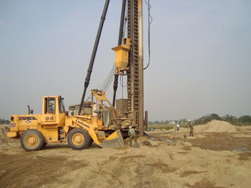 Sand pile construction